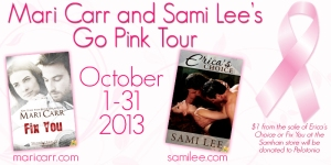 Mari Carr and Sami Lee Breast Cancer Blog Hop October 7