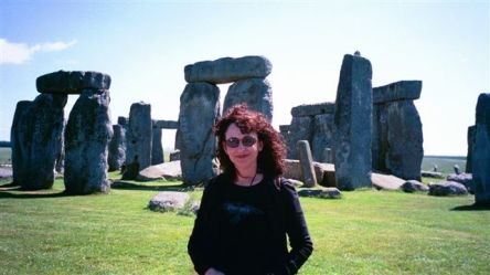 Eva at Stonehenge